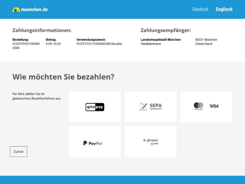 E-Payment Screenshot Paypage