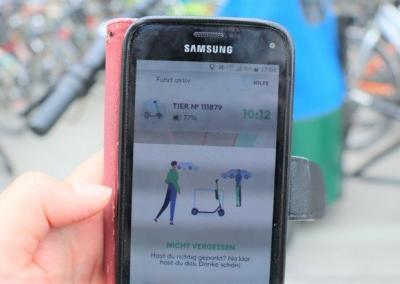 E-Scooter in München: Mobilität via Smartphone