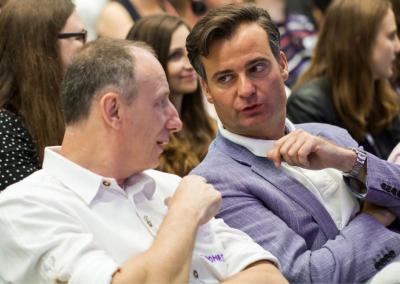 Personalreferent Dr. Dietrich und IT-Referent Bönig auf dem FutureCamp 2018