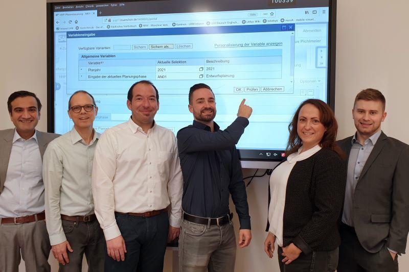 LHM-Team Haushaltsplanung mit SAP