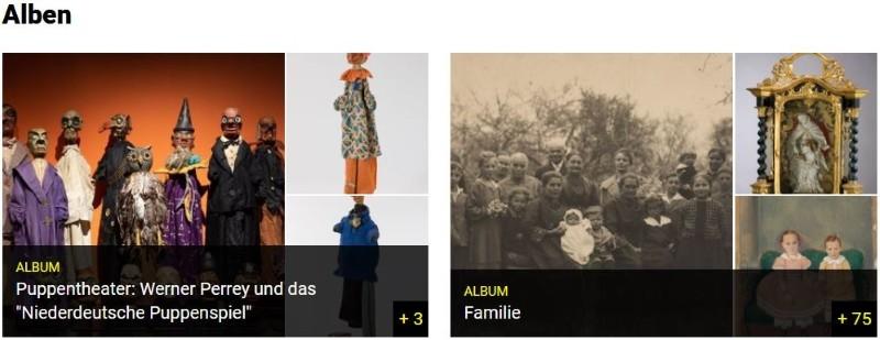 Screenshot Münchner Stadtmuseum Alben
