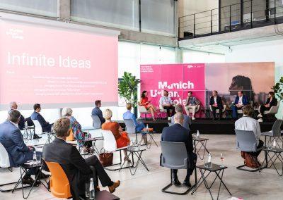 Podiumdiskussion bei der Eröffnung des Munich Urban Colab