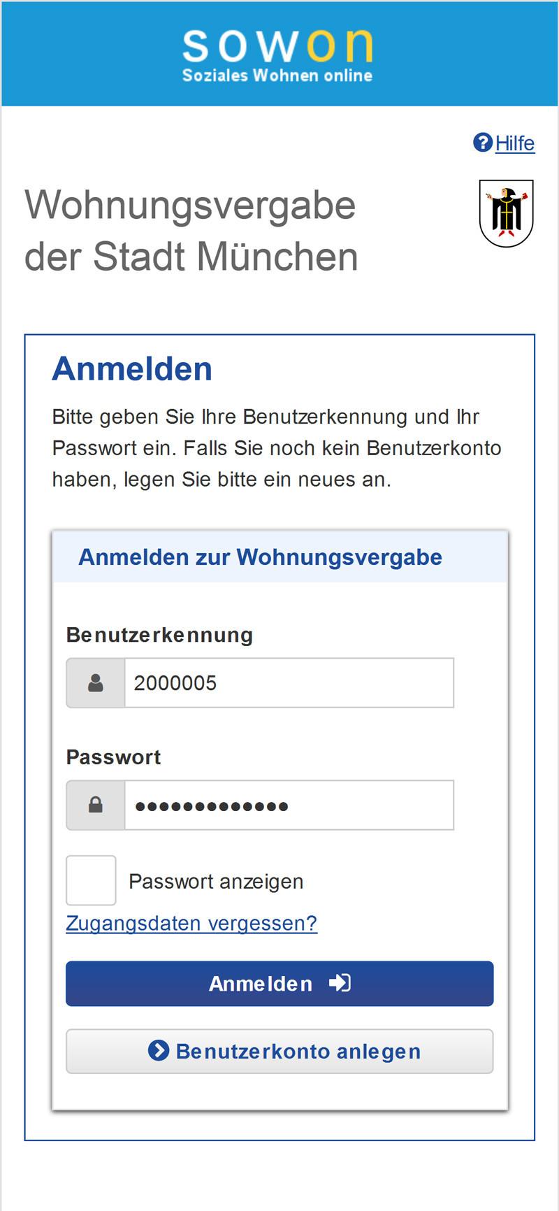 SOWON_Anmeldung_Screenshot