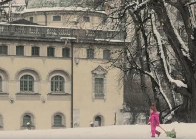 Verschneites München