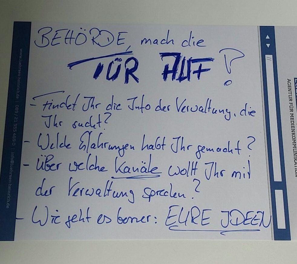 Behörde, mach die Tür auf! – Nachbericht BarCamp München