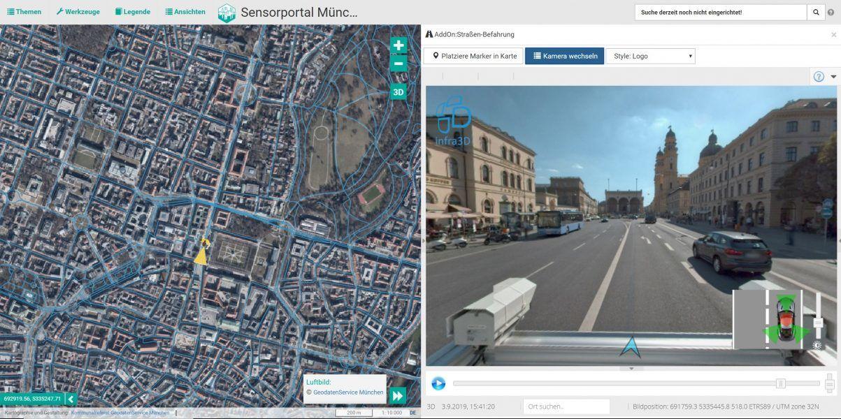 Straßenbefahrung zur Beschaffung von Bildmaterial für das 3D-Stadtmodell - Münchens Digitaler Zwilling - Münchens Digitaler Zwilling