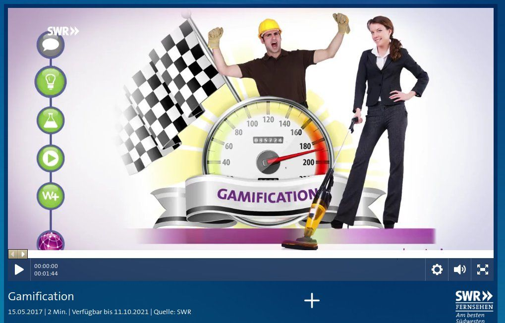 Gamification - Video in der ARD Mediathek, Quelle: SWR