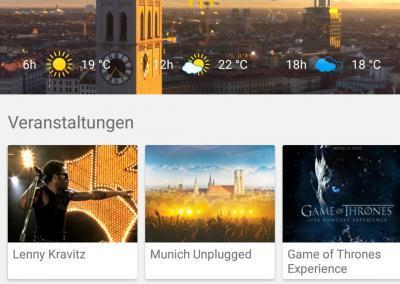 Homescreeen der SmartCity App München