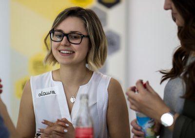 Laura Drexler diskutiert auf dem FutureCamp 2018