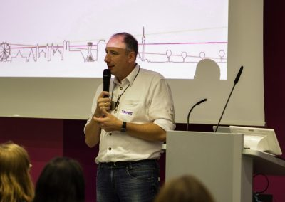 IT-Referent Thomas Bönig begrüßt auf dem FutureCamp18