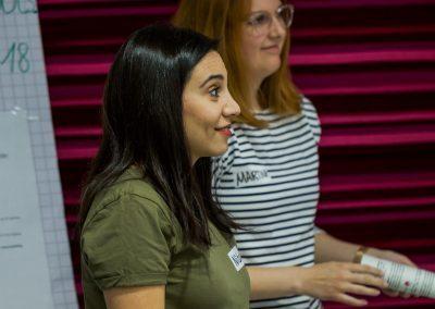 Nidan Tura und Martina Auer auf dem FutureCamp 2018