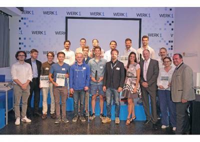 Finalisten und Stadtvertreter bei der Preisverleihung am 18.7.19 im Werk1