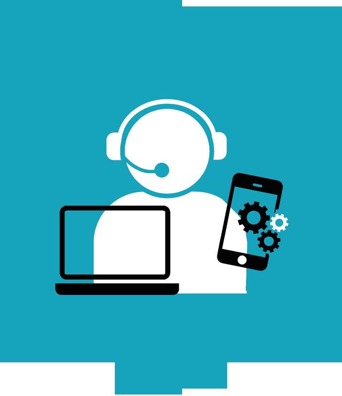 Icon Karriere Ausbildung - Support // Telefon / PC /Hilfe