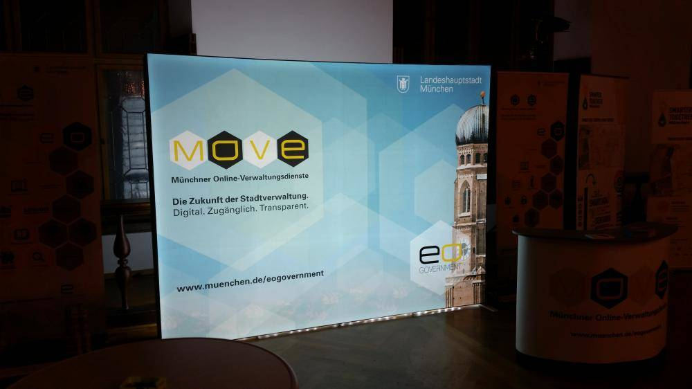 MOVE Plakat auf dem Open Government Tag 2017