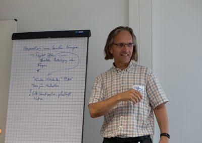 Stabstellenleiter Wolfgang Glock hält eine Session