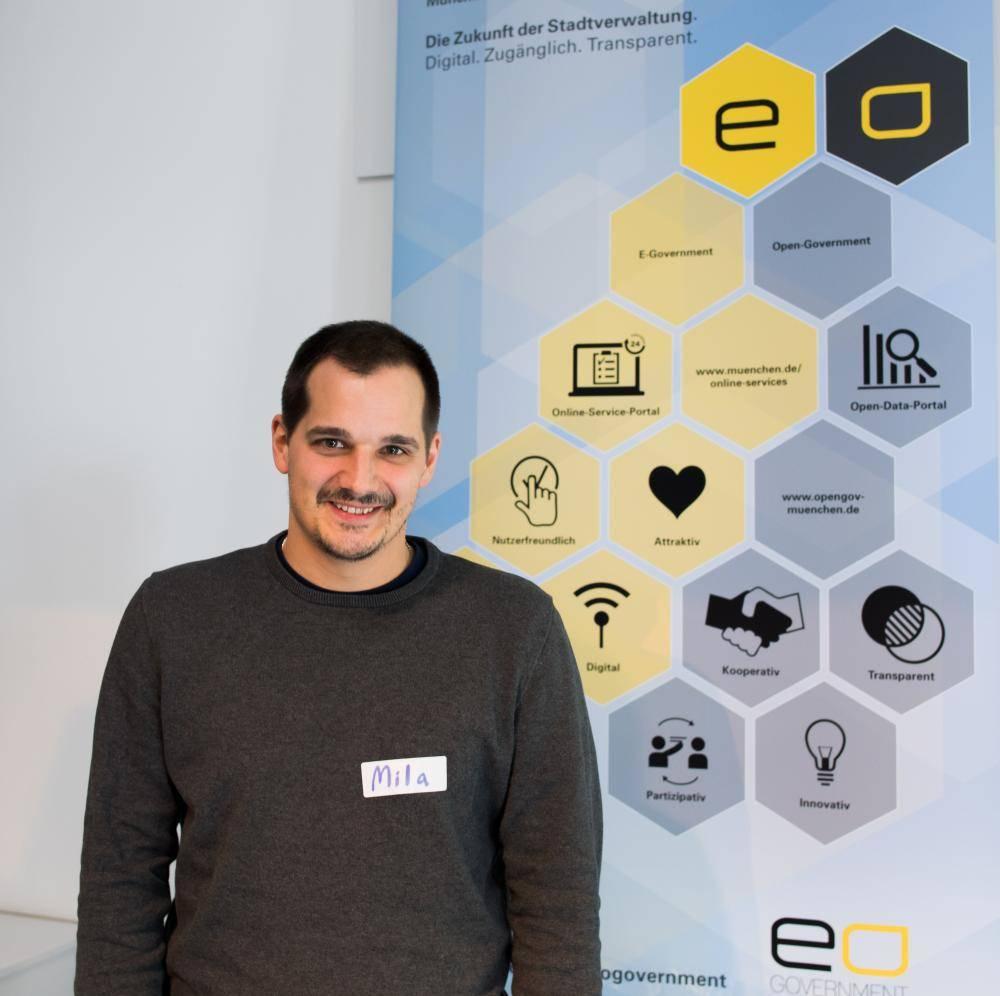 Mitarbeiter eines Startups auf dem Hackathon