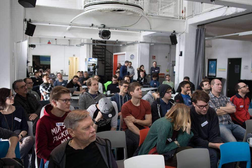 Publikum auf dem Hackathon 2018