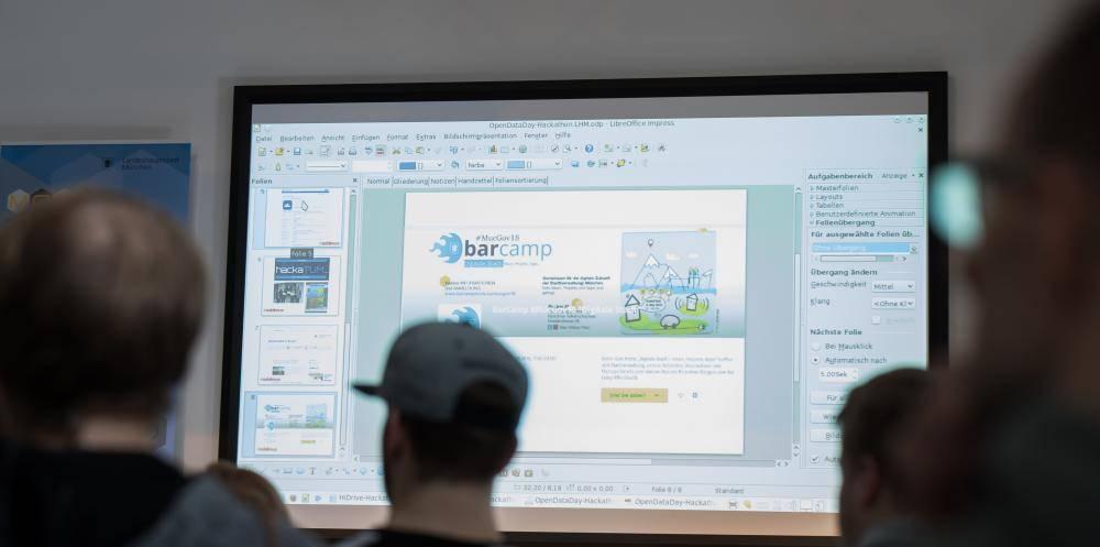 Das BarCamp wird vorgestellt